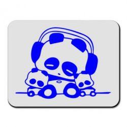 Коврик для мыши Панда в наушниках - FatLine