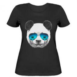 Женская футболка Панда в очках