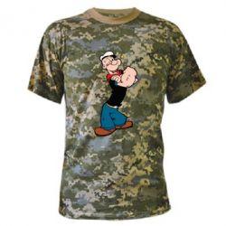 Камуфляжная футболка Папай моряк - FatLine