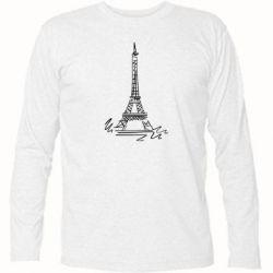 Футболка с длинным рукавом Paris