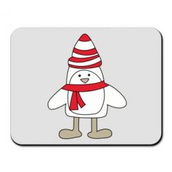 Коврик для мыши Penguin in the hat and scarf - FatLine