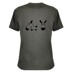Камуфляжная футболка перед и профиль - FatLine