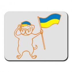 Коврик для мыши Пес з прапором - FatLine