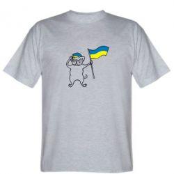 Мужская футболка Пес з прапором - FatLine