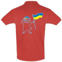 Футболка Поло Пес з прапором - FatLine