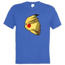 Мужская футболка  с V-образным вырезом Pikachu - FatLine