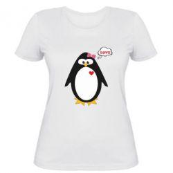 Женская футболка Пингвин девочка - FatLine