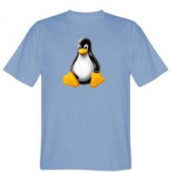 Мужская футболка Пингвин Linux - FatLine