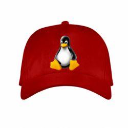 Детская кепка Пингвин Linux - FatLine