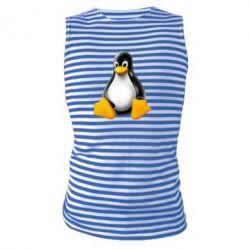 Майка-тельняшка Пингвин Linux - FatLine