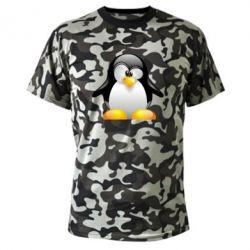 Камуфляжная футболка Пингвинчик - FatLine