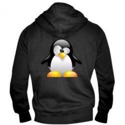 Мужская толстовка на молнии Пингвинчик - FatLine