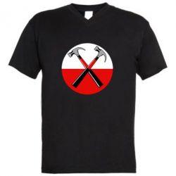 Мужская футболка  с V-образным вырезом Pink Floyd Main Logo - FatLine