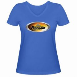Женская футболка с V-образным вырезом Pinnacle Fishing - FatLine