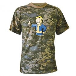 Камуфляжная футболка Pip boy fallout - FatLine