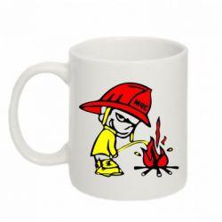 Кружка 320ml Писающий хулиган-пожарный - FatLine