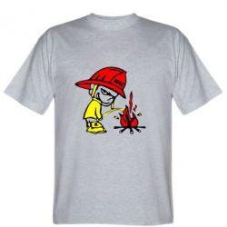 Мужская футболка Писающий хулиган-пожарный - FatLine