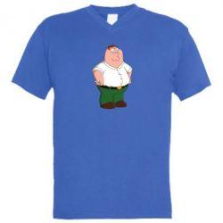 Мужская футболка  с V-образным вырезом Питер Гриффин - FatLine