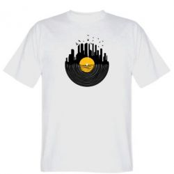 Мужская футболка Пластинка - FatLine