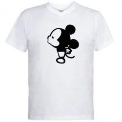Мужская футболка  с V-образным вырезом Поцелуй мышек (м) - FatLine