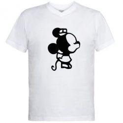 Мужская футболка  с V-образным вырезом Поцелуй мышек (ж) - FatLine