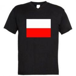 Мужская футболка  с V-образным вырезом Польша - FatLine