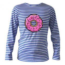 Тельняшка с длинным рукавом Пончик Гомера - FatLine