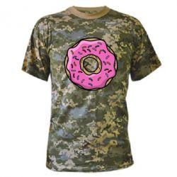 Камуфляжная футболка Пончик Гомера - FatLine