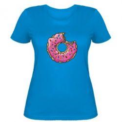 Женская футболка Пончик - FatLine