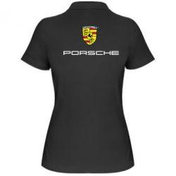 Женская футболка поло Porsche - FatLine