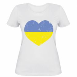 Женская футболка Пошарпане серце - FatLine