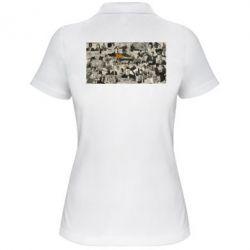 Женская футболка поло Постер Криминальное чтиво - FatLine