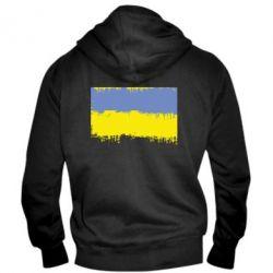 Мужская толстовка на молнии Потертый флаг Украины - FatLine