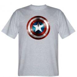 Мужская футболка Потертый щит - FatLine