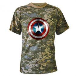 Камуфляжная футболка Потертый щит - FatLine