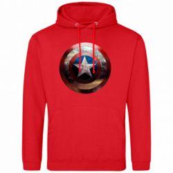 Мужская толстовка Потрескавшийся щит Капитана Америка - FatLine