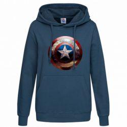 Женская толстовка Потрескавшийся щит Капитана Америка - FatLine