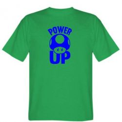 Мужская футболка Power Up гриб Марио - FatLine