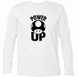 Футболка с длинным рукавом Power Up гриб Марио - FatLine