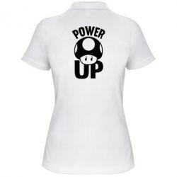 Женская футболка поло Power Up гриб Марио - FatLine