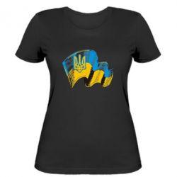 Женская футболка Прапор України з гербом - FatLine