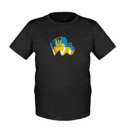 Детская футболка Прапор України з гербом - FatLine