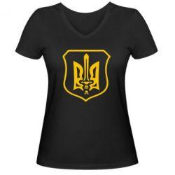Женская футболка с V-образным вырезом Правий сектор - FatLine