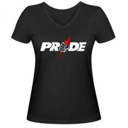 Женская футболка с V-образным вырезом Pride - FatLine