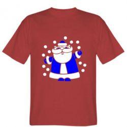 Мужская футболка Прикольный дед мороз - FatLine