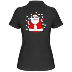 Женская футболка поло Прикольный дед мороз - FatLine