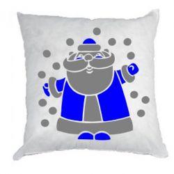 Подушка Прикольный дед мороз - FatLine