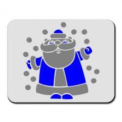 Коврик для мыши Прикольный дед мороз - FatLine