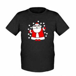 Детская футболка Прикольный дед мороз - FatLine