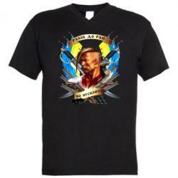 """Мужская футболка  с V-образным вырезом Прислів'я """"рабів до раю не пускають"""""""